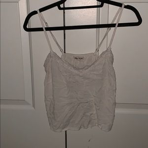 Women's Medium Billabong cropped white tank top